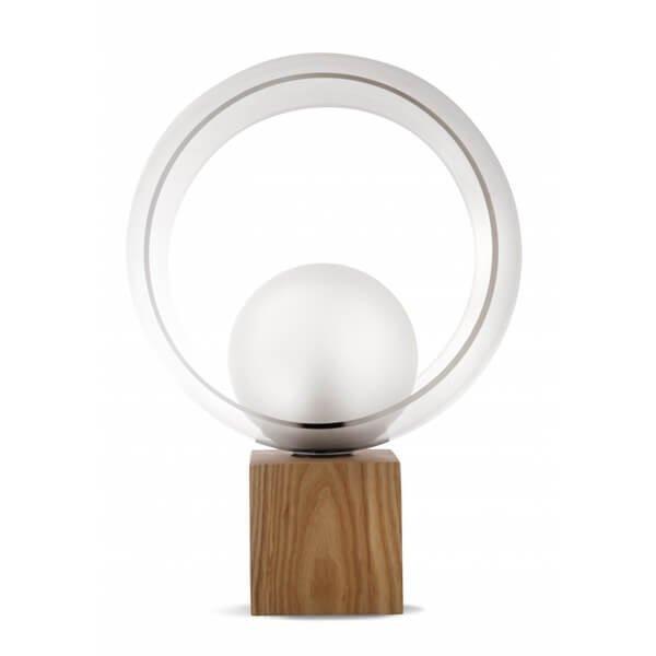 Luminaires chambre design OKIO BOIS, H48cm CONCEPT VERRE