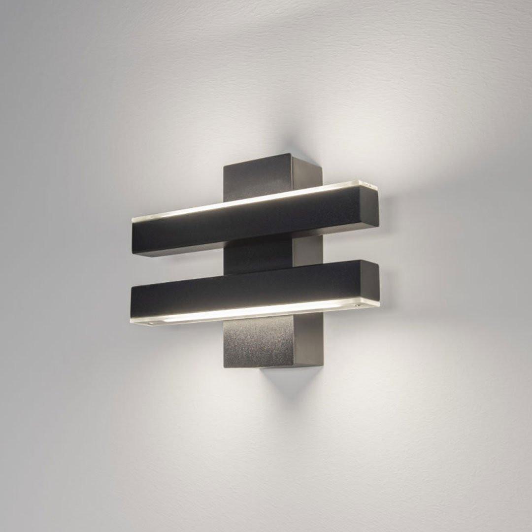 Luminaires entrée ARTYS CROSS, Noir ILFARI
