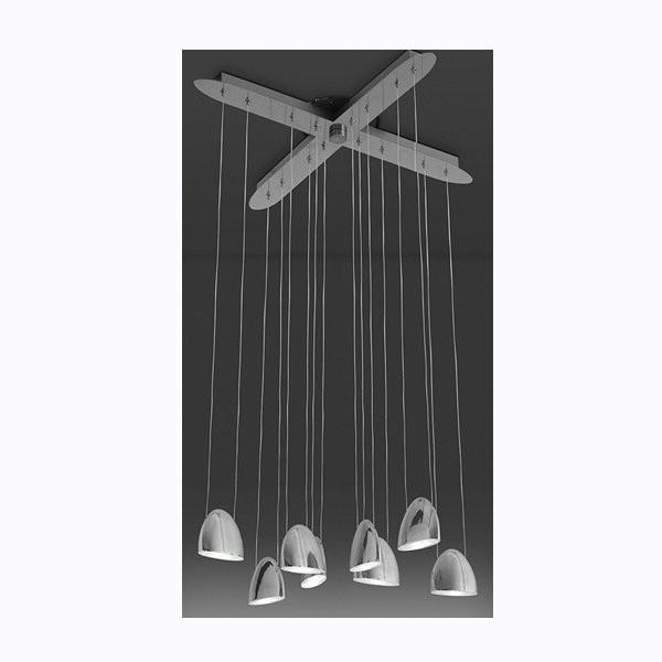 Luminaires salon design LED OVAL CROIX, H135cm ALMALIGHT