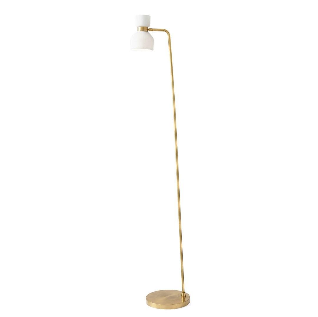 Lampadaire doré CINQUANTE, H162cm MILOOX