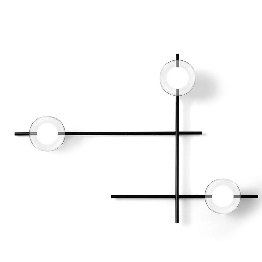 Luminaires chambre design MIKADO TRANSPARENT, H63.5cm MILOOX