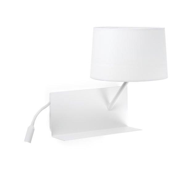 Luminaires chambre design HANDY Blanc, H55,5cm FARO