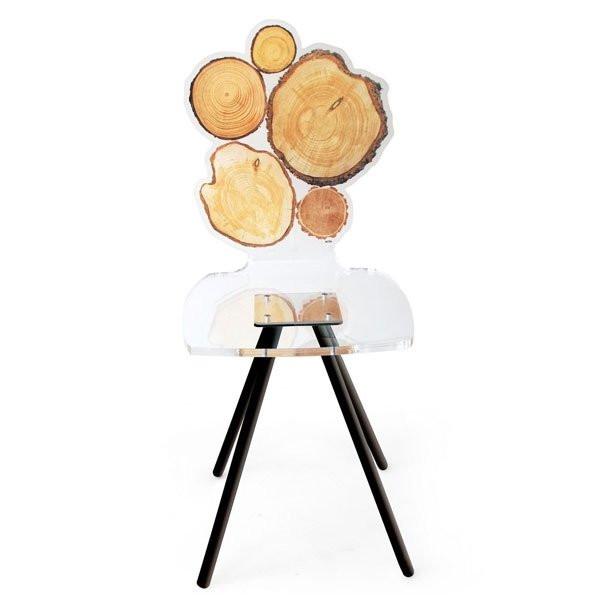 Chaise design & lumineuse QUEBEC, H88cm ACRILA