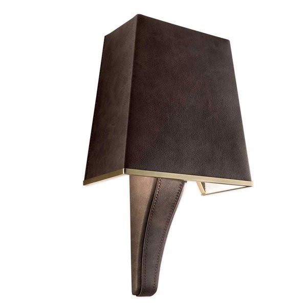 Luminaires chambre design DARSHAN Marron, H40cm MASIERO