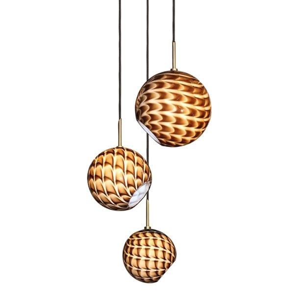 Luminaires chambre design DUNE 3 CONCEPT VERRE