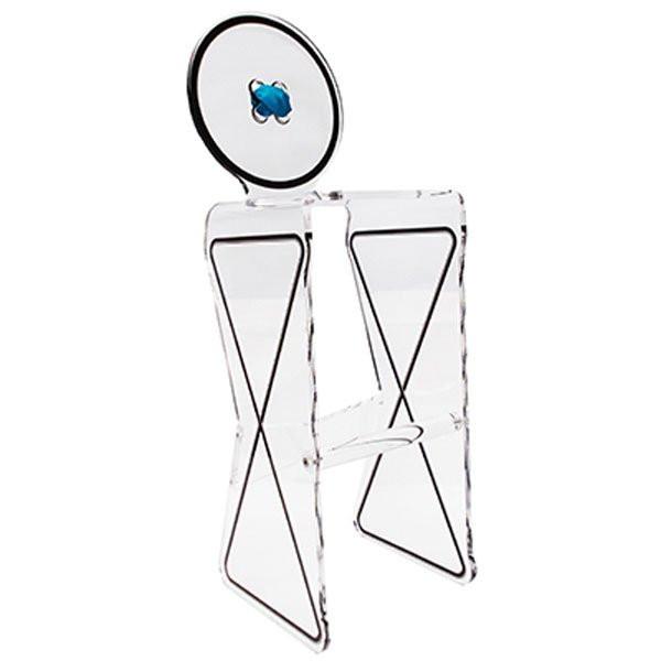 Tabouret design & lumineux - Tabouret de bar HAUTE COUTURE, H117cm ACRILA