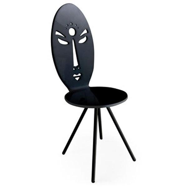 Chaise design & lumineuse AFRICA Noir, H102cm ACRILA