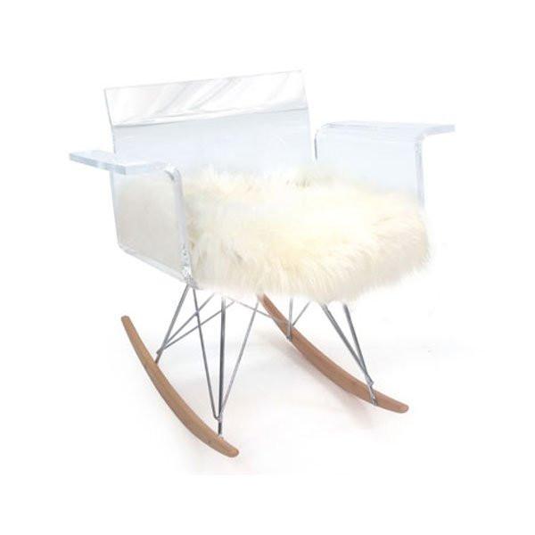 Fauteuil design & Lumineux CALI Rocking chair, H77.5cm ACRILA