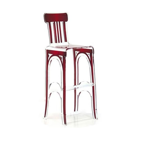 Chaise design & lumineuse BISTROT, H117cm ACRILA
