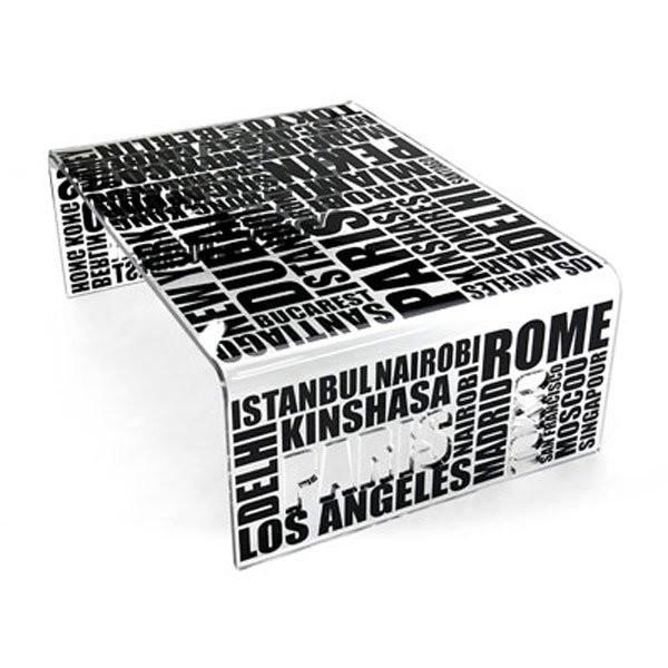 Nos Idées cadeaux CITY Noir, H35cm ACRILA