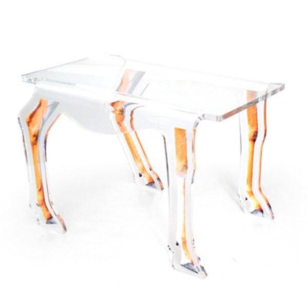 Table basse design & lumineuse ANTILOPE Transparent, H42cm ACRILA