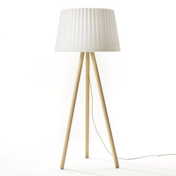 Luminaires de luxe extérieur AGATA WOOD Blanc, H180cm MYYOUR