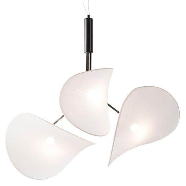 Luminaires chambre design MANTA TRIPLE Blanc, H90cm INVENTIVE