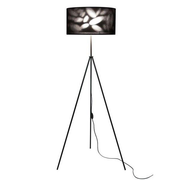 Luminaires chambre design TREGGY Noir, H150cm BROSSIER SADERNE
