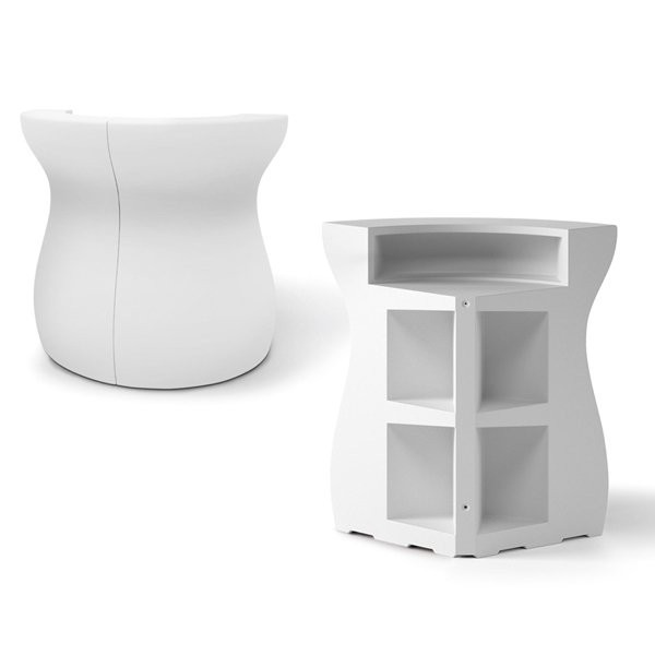 Mobilier Lumineux BARTOLOMEO Blanc, H110cm PLUST COLLECTION