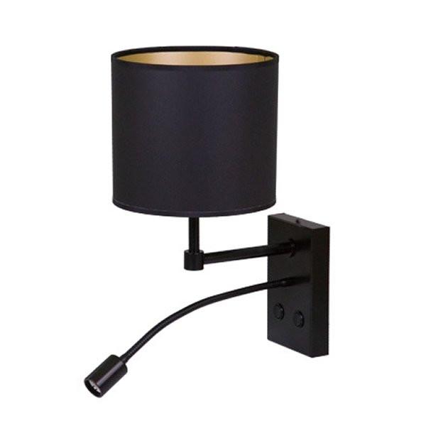 Luminaires chambre design BOLDY Noir, H37cm BROSSIER SADERNE