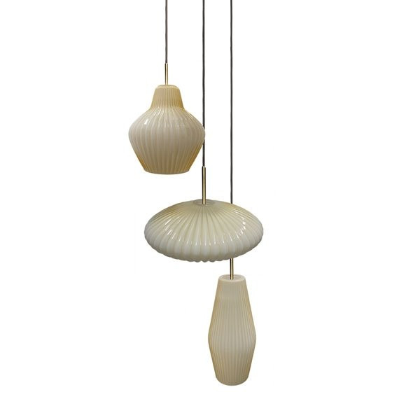 Luminaires salon design SERAIL Ivoire CONCEPT VERRE