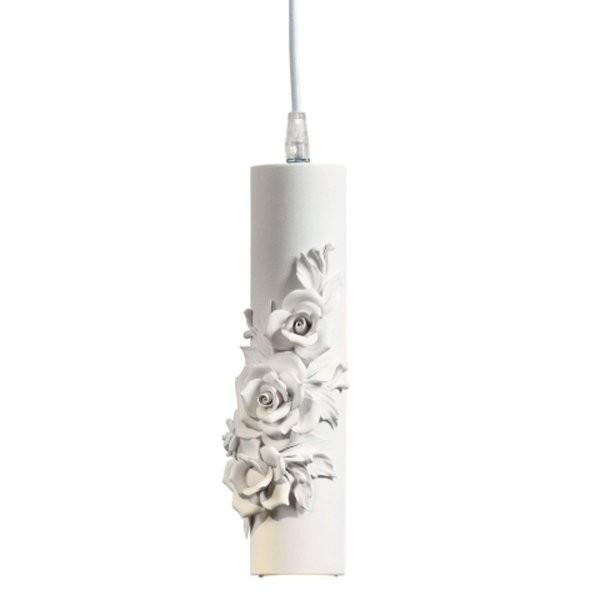 Luminaires entrée CAPODIMONTE Blanc, H26cm KARMAN