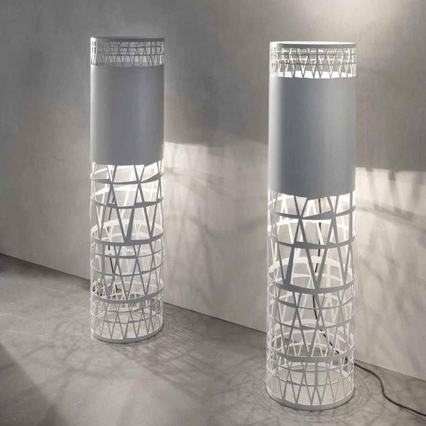 Luminaires salon design MERLINO Gris, H120cm SILLUX