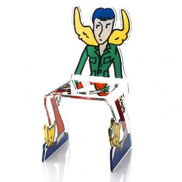 Chaise design & lumineuse JCDC Ange, H93cm ACRILA