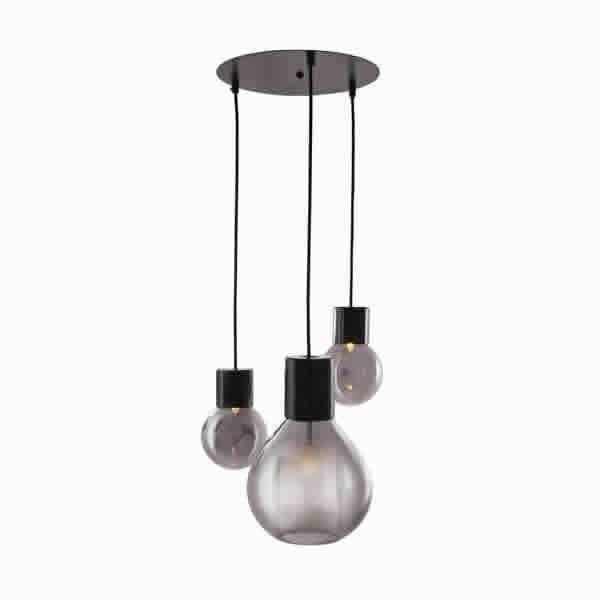 Luminaires salon design ELBE, H120cm CONCEPT VERRE
