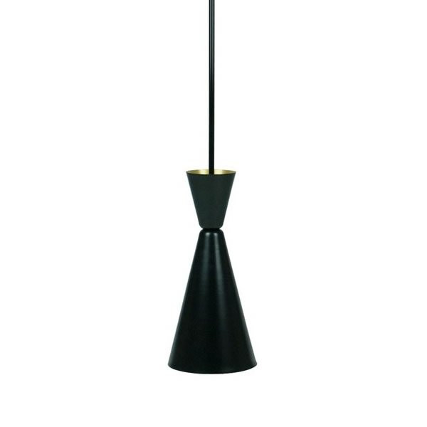 Suspensions métal noir FALCO Noir, H41cm BROSSIER SADERNE