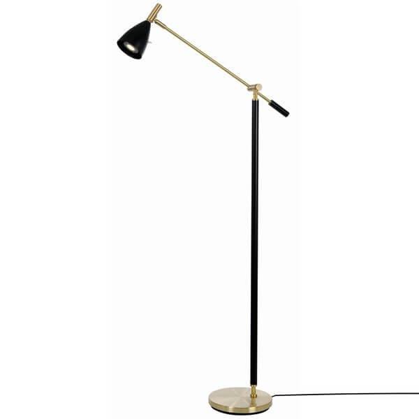Lampadaire doré FRANK 2.0, H133.6cm BELID