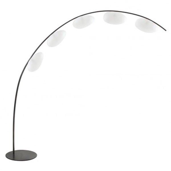 Suspensions plafonniers de luxe ANGELY Blanc, H200cm CONCEPT VERRE