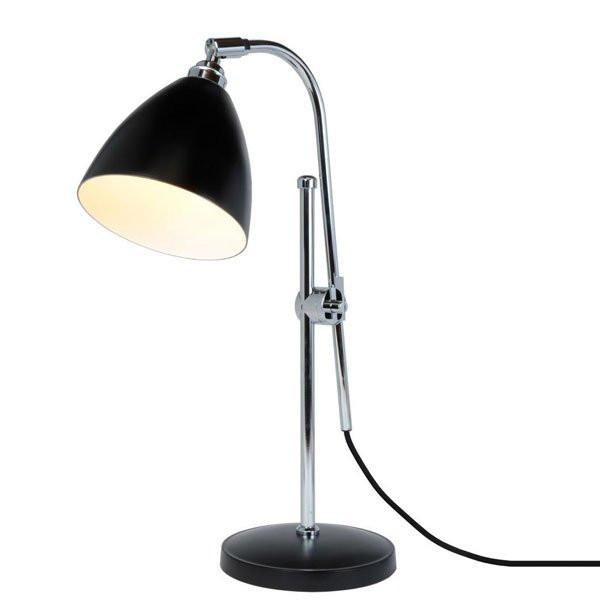 Lampes à poser noires TASK, Ø16cm BTC