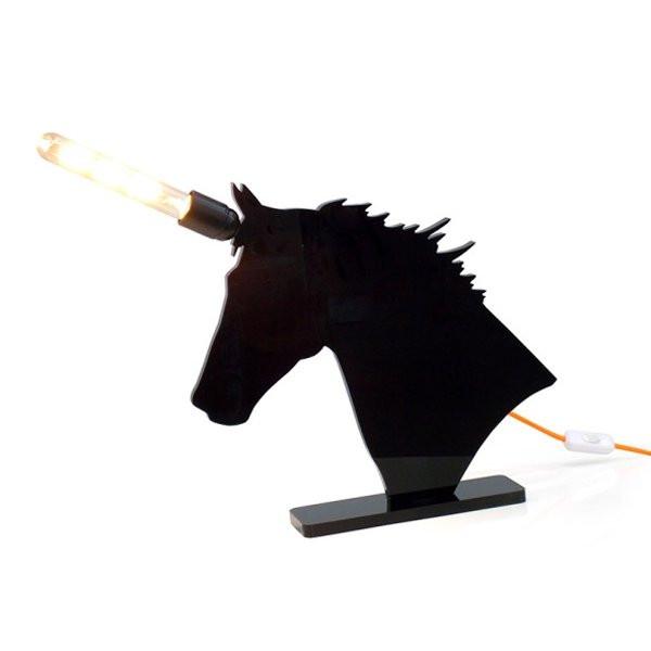 Nos Idées cadeaux de Noël  LICORNE Noir, H25cm ACRILA