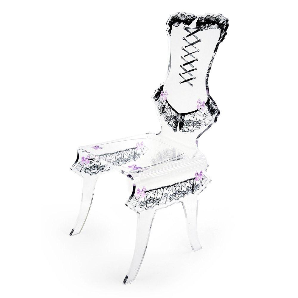Chaises  DAISY Transparent, H89cm ACRILA
