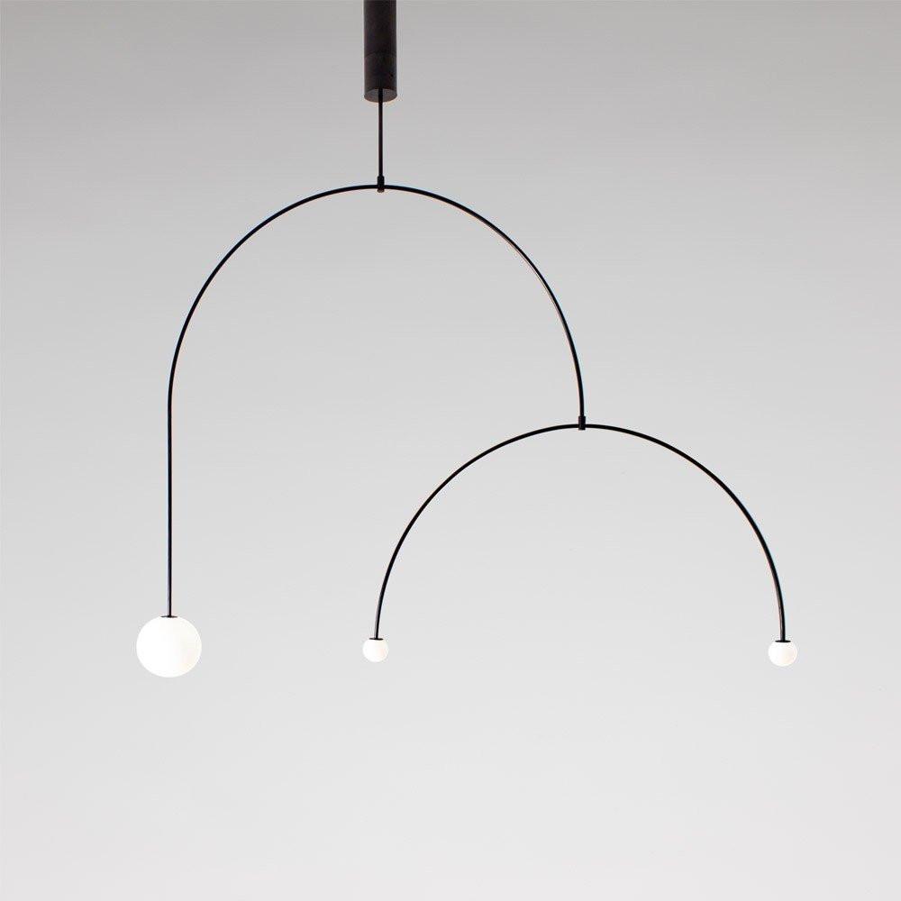 Luminaires entrée MOBILE CHANDELIER 9 Noir, H110cm ANASTASSIADES