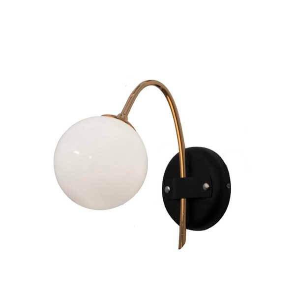 Luminaires entrée MARAIS Blanc, H25cm CONCEPT VERRE