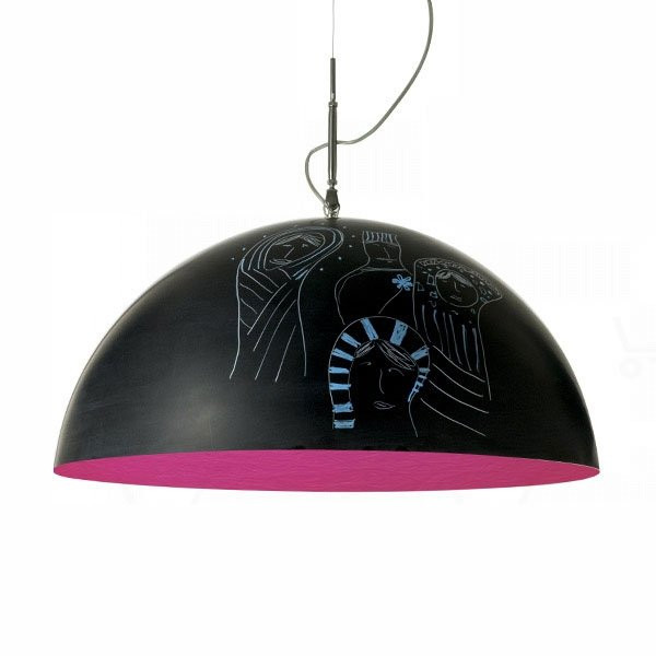 Luminaires chambre design MEZZA LUNA 1, H33cm IN-ES.ARTDESIGN