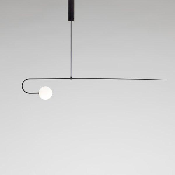 Luminaires chambre design MOBILE CHANDELIER 8 Noir, H24.8cm ANASTASSIADES