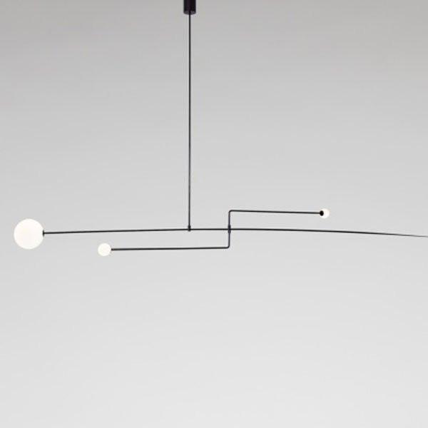 Luminaires chambre design MOBILE CHANDELIER 3 Noir, H15cm ANASTASSIADES