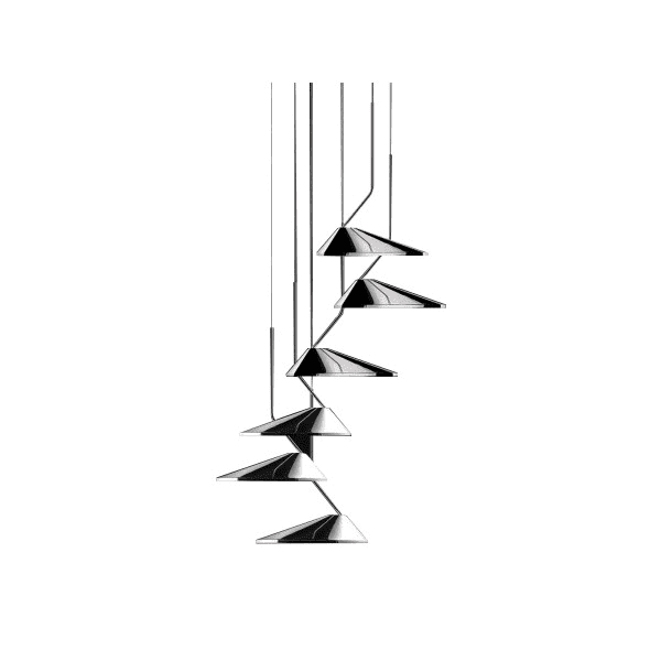 Luminaires salon design NÖN LÄ SET 6/CIRCULAR, H29cm BOVER