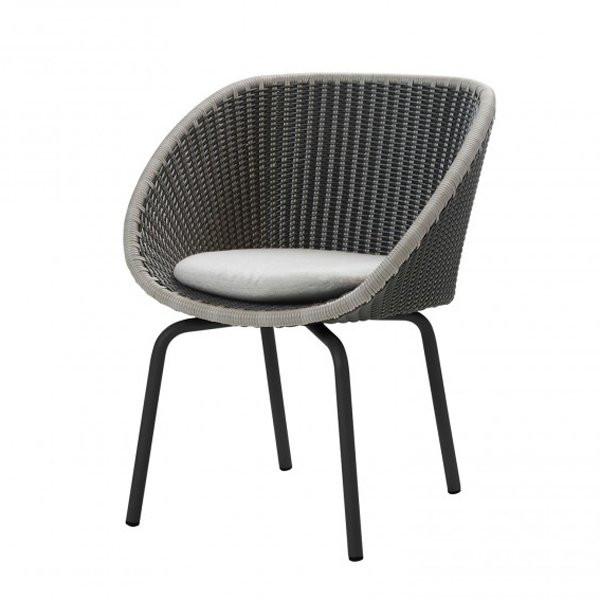 Chaise design & lumineuse PEACOCK - VENDUE PAR 2 CANE LINE