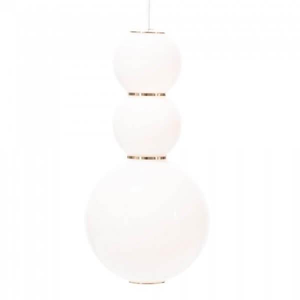 Luminaires salon design PEARLS D Blanc, H34cm FORMAGENDA