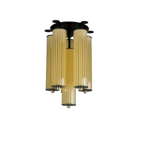 Luminaires entrée PERAO Jaune, H50cm BROSSIER SADERNE