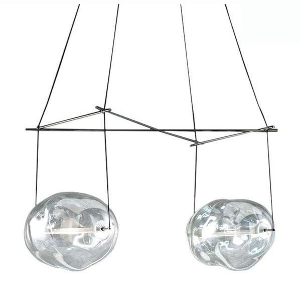 Luminaires entrée BOM BON DOUBLE Transparent, H60cm SILLUX
