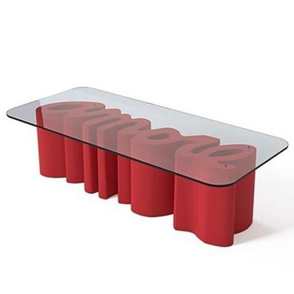 Table basse design & lumineuse AMORE, H46cm SLIDE
