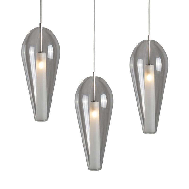 Luminaires salon design ALEGRIA, Transparent CONCEPT VERRE