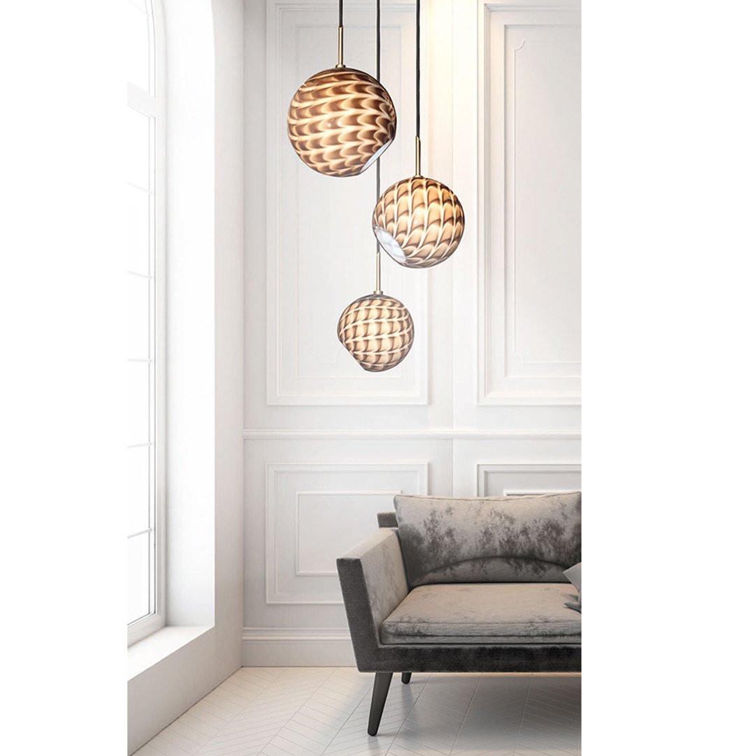 Luminaires chambre design DUNE 2 CONCEPT VERRE
