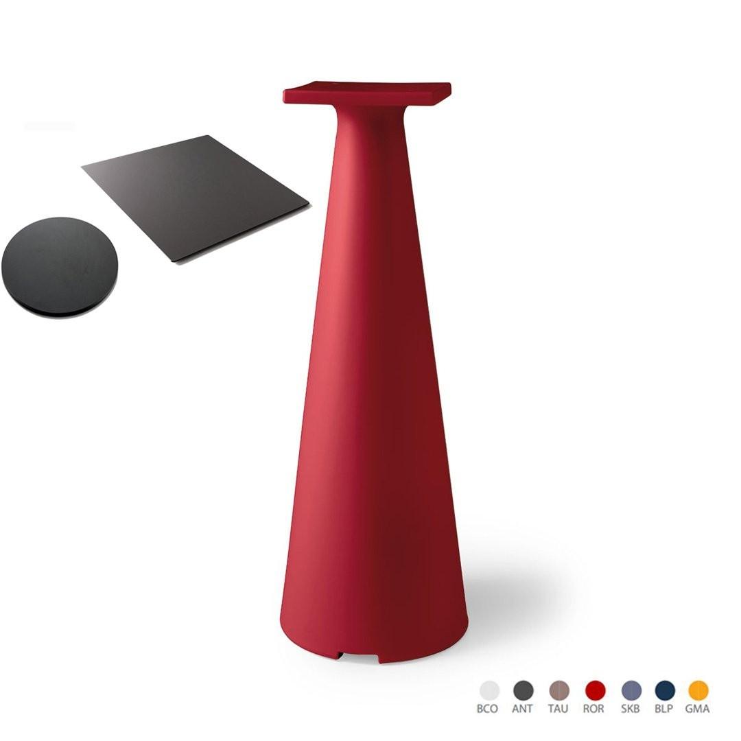 Table design & lumineuse - Table haute TIFFANY, H110cm LYXO DESIGN