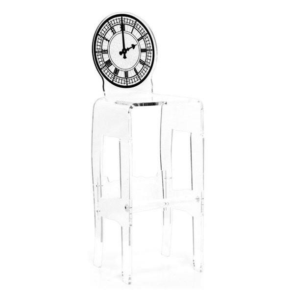 Nos Idées cadeaux HORLOGE Transparent, H117cm ACRILA