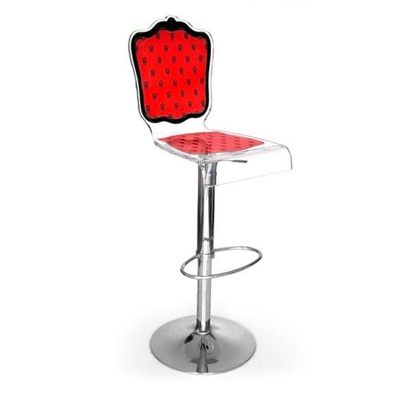 Tabouret design & lumineux - Tabouret de bar CHARLESTON, H115.5cm ACRILA