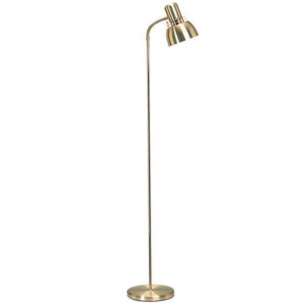 Lampadaire doré TELLUS, H123cm BELID