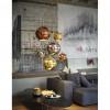 Luminaires salon design BOLLE L, H25cm Aldo BERNARDI