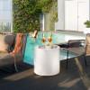 Table design & lumineuse - Table haute HOME CYLINDRIQUE, H55cm LYXO DESIGN